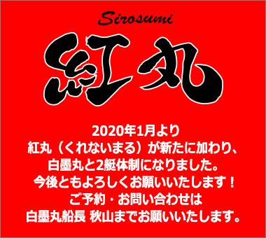 2020年1月より紅丸(くれないまる)が新たに加わり、2艇体制になりました。